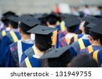 back of graduates during... | Shutterstock . vector #131949755