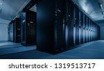 shot of a working data center... | Shutterstock . vector #1319513717