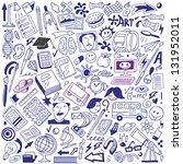 school education   doodles... | Shutterstock .eps vector #131952011