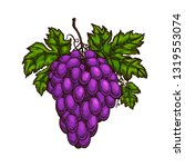 cluster of grapes. fruit ... | Shutterstock .eps vector #1319553074