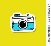 camera doodle icon   Shutterstock .eps vector #1319562317