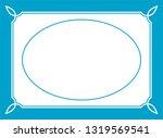 vector oval photo frame in... | Shutterstock .eps vector #1319569541