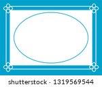 vector oval photo frame in... | Shutterstock .eps vector #1319569544