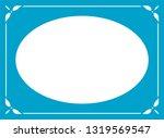 vector oval photo frame in... | Shutterstock .eps vector #1319569547