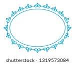 vector vintage oval border... | Shutterstock .eps vector #1319573084