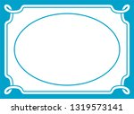 vector vintage oval border...   Shutterstock .eps vector #1319573141