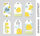 easter gift tags with cute... | Shutterstock .eps vector #1319573627