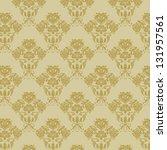 vector  damask seamless pattern   Shutterstock .eps vector #131957561