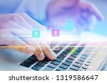 cyber secure antivirus | Shutterstock . vector #1319586647