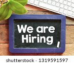 we are hiring text business...   Shutterstock . vector #1319591597