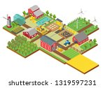 3d isometric rural farm with... | Shutterstock . vector #1319597231