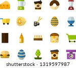 color flat icon set   easter... | Shutterstock .eps vector #1319597987
