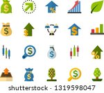 color flat icon set   green... | Shutterstock .eps vector #1319598047