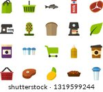 color flat icon set   green... | Shutterstock .eps vector #1319599244