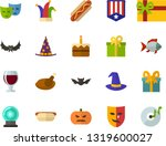 color flat icon set  ... | Shutterstock .eps vector #1319600027