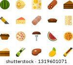 color flat icon set   sausage... | Shutterstock .eps vector #1319601071