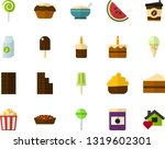 color flat icon set   easter... | Shutterstock .eps vector #1319602301