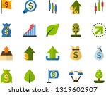 color flat icon set   green... | Shutterstock .eps vector #1319602907