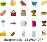 color flat icon set   sausage... | Shutterstock .eps vector #1319604047