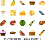 color flat icon set   sausage... | Shutterstock .eps vector #1319605547