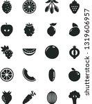 solid black vector icon set  ... | Shutterstock .eps vector #1319606957