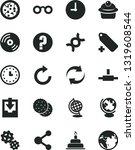 solid black vector icon set  ... | Shutterstock .eps vector #1319608544
