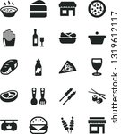 solid black vector icon set  ... | Shutterstock .eps vector #1319612117