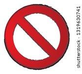forbidden icon vector isolated... | Shutterstock .eps vector #1319630741