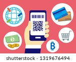 cashless with smartphone | Shutterstock .eps vector #1319676494
