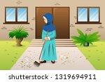 a vector illustration of muslim ... | Shutterstock .eps vector #1319694911