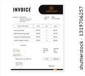 business invoice template vector | Shutterstock .eps vector #1319706257