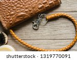 vintage genuine leather wallet... | Shutterstock . vector #1319770091
