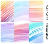 set of colorful abstract water...   Shutterstock . vector #131977547