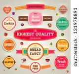 set of retro bakery labels ... | Shutterstock .eps vector #131978891
