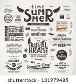 retro elements for summer... | Shutterstock .eps vector #131979485