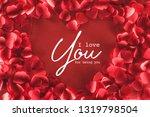 top view of beautiful heart... | Shutterstock . vector #1319798504