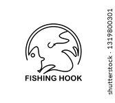 fishing hook logo image...   Shutterstock .eps vector #1319800301