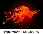 bull raging run in fury | Shutterstock .eps vector #1319809247