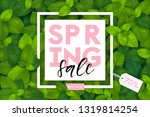 spring background with fresh... | Shutterstock .eps vector #1319814254