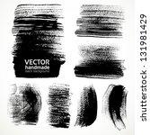 textured brush strokes brush... | Shutterstock .eps vector #131981429