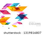 colorful geometrical abstract... | Shutterstock .eps vector #1319816807