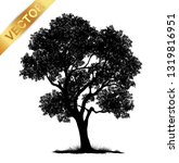tree silhouette isolated on... | Shutterstock .eps vector #1319816951