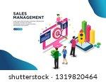 sales management isometric...