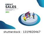 great sales isometric vector...
