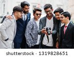 group of six south asian indian ... | Shutterstock . vector #1319828651