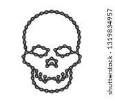 human skull made of bike or...