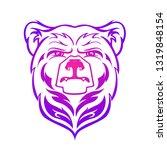 bear head mascot  vector bear... | Shutterstock .eps vector #1319848154