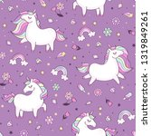seamless vector pattern with... | Shutterstock .eps vector #1319849261