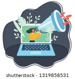 vector cartoon illustration of... | Shutterstock .eps vector #1319858531