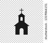 grey church building icon... | Shutterstock .eps vector #1319866151
